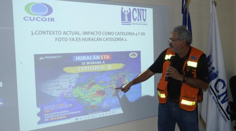 UNAN-Managua presenta informe de planes preventivos ante Huracán Eta